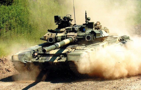 Picture tank, T-90, the main battle tank of the Russian Federation