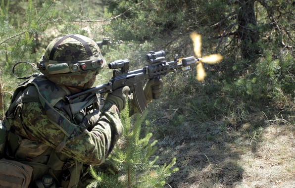 Picture weapons, soldiers, Estonian Army