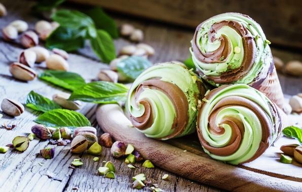 Picture chocolate, ice cream, nuts, dessert, sweet, chocolate, sweet, dessert, ice cream