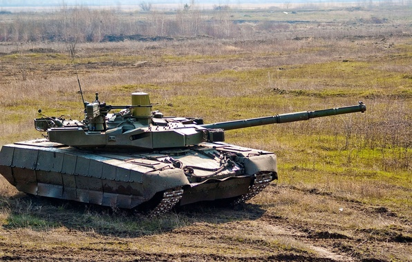 """Picture field, tank, Ukraine, T-80 """"Stronghold"""""""