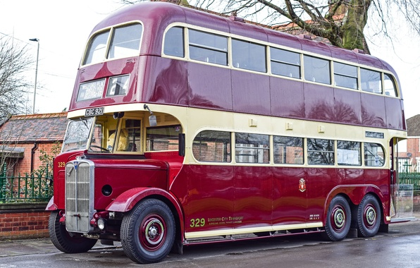 Picture retro, bus, classic, two-storey