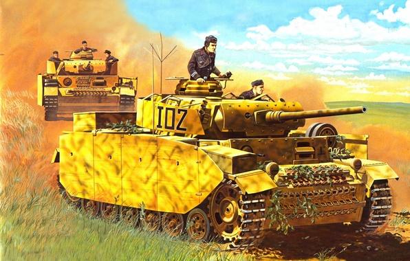 Picture art, tank, A IV, Panzerkampfwagen IV