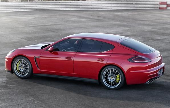 Picture Porsche, Panamera, red, car, beautiful, GTS
