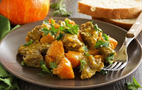 Picture greens, food, meat, sauce, skewers