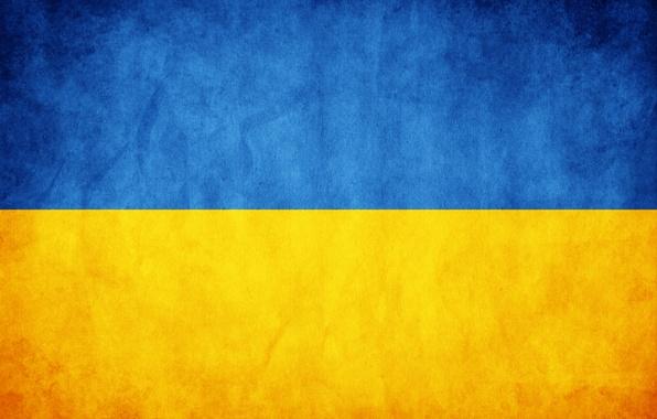 Picture flag, texture, Ukraine