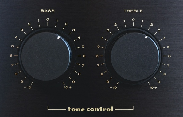 Photo wallpaper Bass, treble, tone control