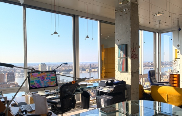 Picture design, style, interior, megapolis, the room, Studio, office