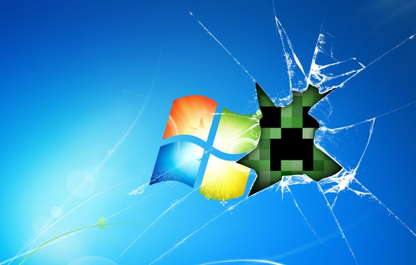 Picture glass, the game, Desk, windows, game, minecraft