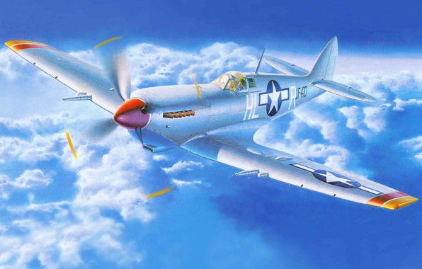Picture the plane, fighter, art, English, Spitfire, Supermarine, WW2., times, Spitfire, Supermarine, MK 8