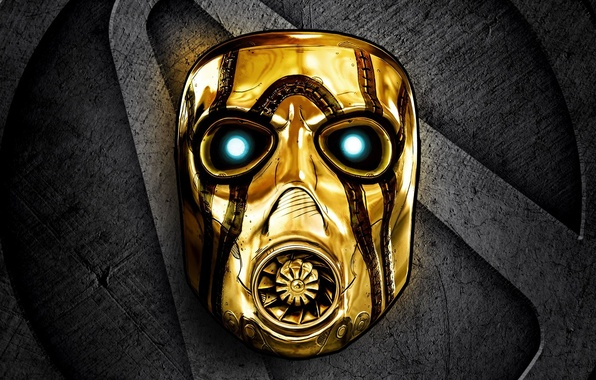 Picture gold, sign, mask, 2K Games, Gearbox Software, Borderlands: The Handsome Collection