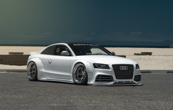 Picture car, tuning, low, stance, Liberty Walk, audi S5