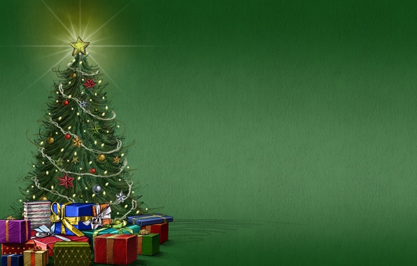 Picture background, mood, holiday, star, tree, gifts