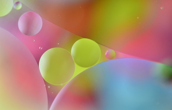 Picture water, bubbles, color, oil, round, the air, the volume