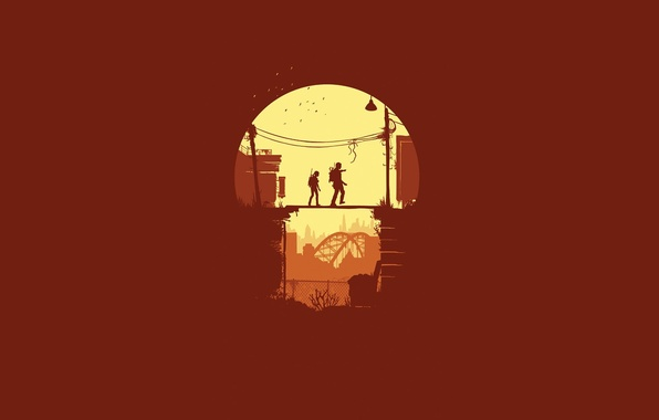 Picture girl, bridge, minimalism, male, The Last of Us, Naughty Dog, Some of us, Sony Computer …