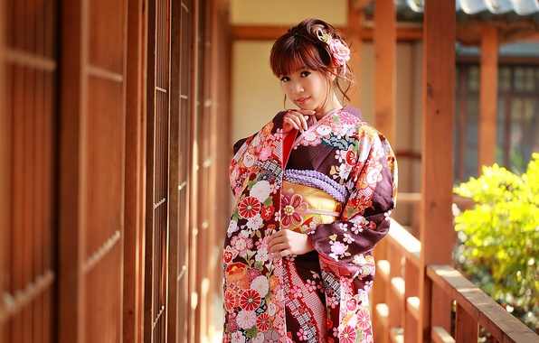 Picture summer, face, style, clothing, kimono