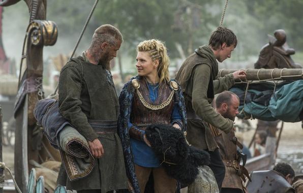 Picture the series, drama, Vikings, historical, The Vikings, Katheryn Winnick, Travis Fimmel, Ragnar Lothbrok, Lagertha