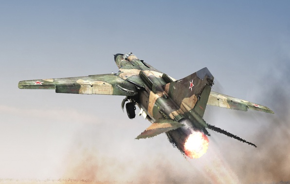 Picture heat, the air, the plane, MiG, interceptor