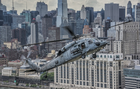 """Picture flight, the city, home, helicopter, skyscrapers, multipurpose, Sikorsky, UH-60, Black Hawk, """"Black Hawk"""""""