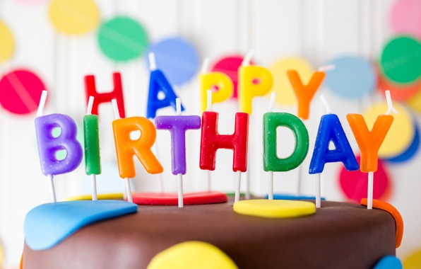 Picture birthday, candles, colorful, cake, cake, Happy Birthday, candles, letters