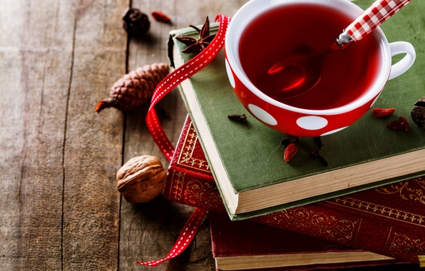 Picture tea, Cup, book, cup, book, tea