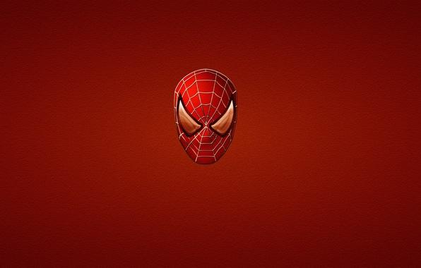 Picture red, minimalism, red, marvel, comic, comics, Spider-man, Spider-Man
