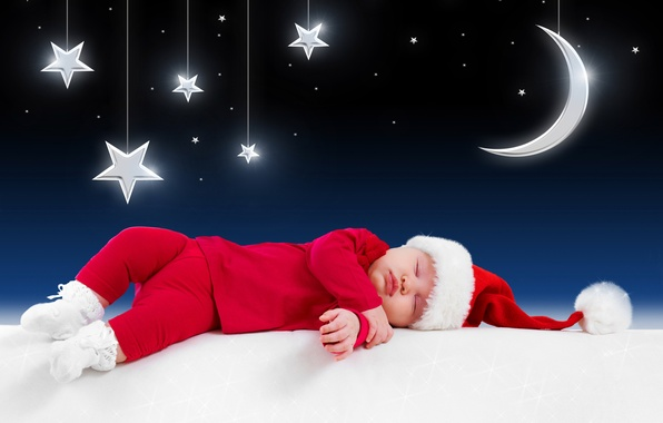 Picture stars, children, the moon, clothing, baby, New year, moon, new year, stars, costumes, merry christmas, …