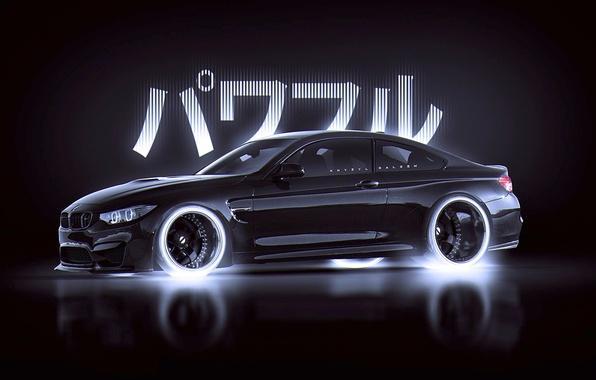 Picture BMW, Japan, Car, Black, Style, by Khyzyl Saleem, M4