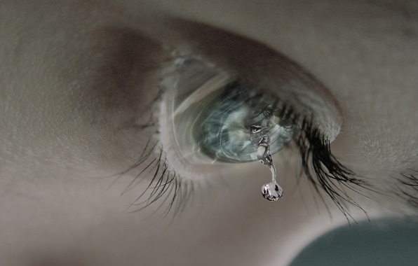 Picture eyes, eyelashes, tear