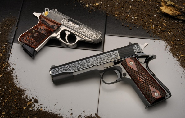 Picture weapons, guns, Colt, Walther