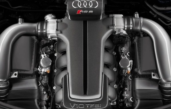 Picture Audi, engine, V10 TFSI