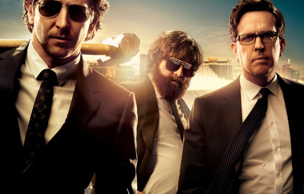 Picture Black, Men, Zach Galifianakis, Alan, Bradley Cooper, Ed Helms, Man, Hammer, Pictures, Phil, Stu, Sunglasses, …