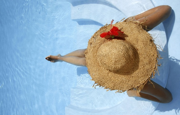 Picture water, hat, pool