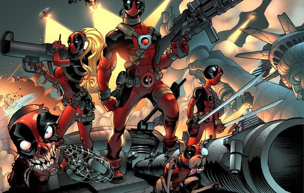 Picture comics, art, deadpool, marvel comics, Wade Wilson