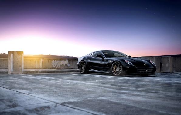 Picture black, sports car, Ferrari, Parking, Ferrari 599 GTB Fiorano
