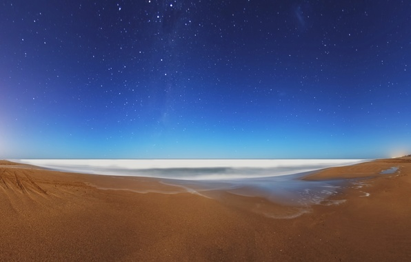 Picture sea, the sky, stars, night, the evening, morning, the milky way
