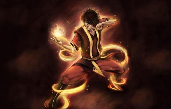 Photo Wallpaper The Last Airbender Blow Magic Art Avatar Zuko
