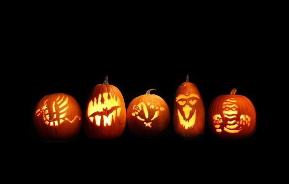 Picture light, halloween, pumpkin