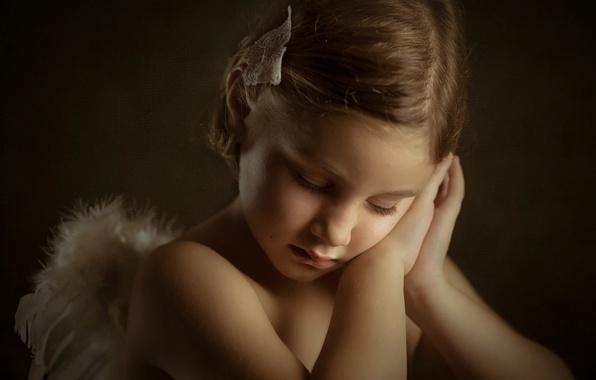 Picture portrait, girl, Little Angels, Mireia