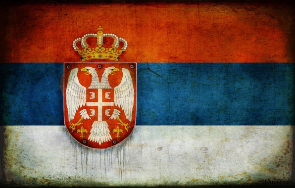 Picture flag, coat of arms, Serbia