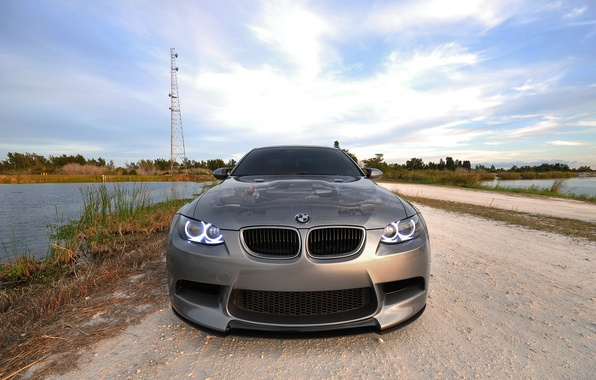 Picture water, BMW, tower, angel eyes