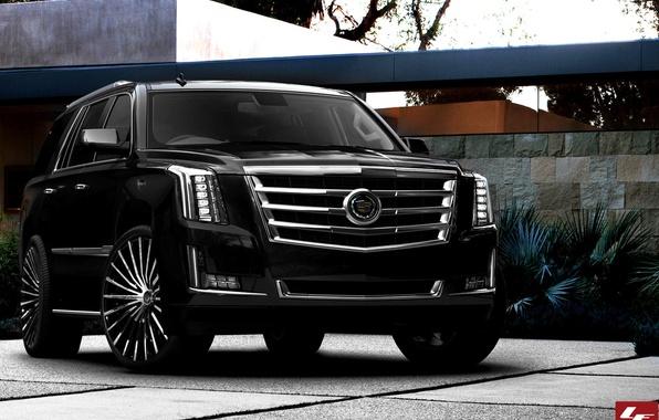 Picture Cadillac, Escalade, black, tuning, 2015