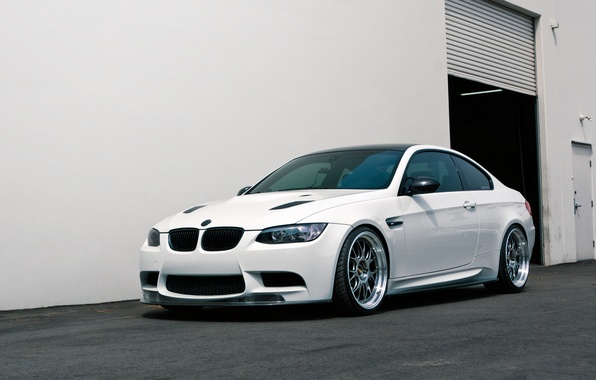 Picture BMW, Tuning, White, BMW, Drives, White, E92, Tuning, BBS