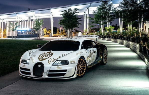 Picture Bugatti, Veyron, Front, New York, NYC, White, Supersport, Spoiler, Pur Blanc