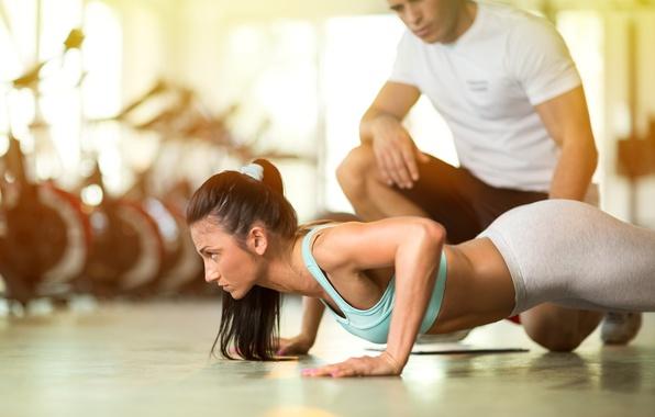 Photo wallpaper workout, fitness, pushups