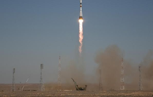 Picture rocket, start, Soyuz TMA-16
