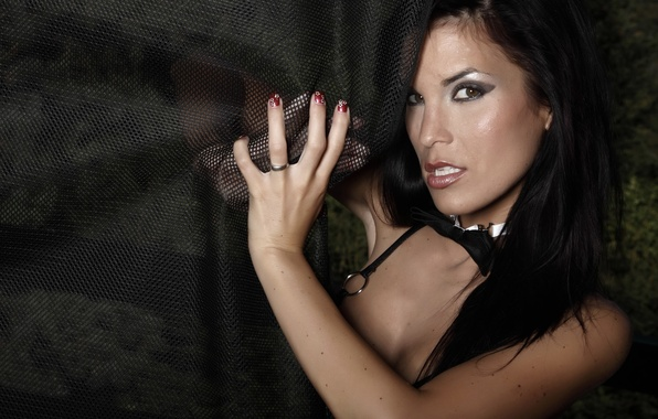 Picture look, girl, butterfly, model, brunette, ring, girl, In, sexy, curtain, eyes, butterfly, model, ring, brunette, …