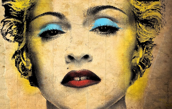 Picture face, style, singer, Madonna, texture, aging