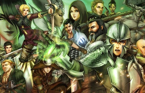 Picture elf, warrior, MAG, dwarf, Cole, morrigan, Sera, Dragon Age: Inquisition, Varric Tethras, Leliana, Dorian, Qunari, …