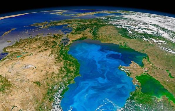 Picture photo, planet, Earth, NASA, The black sea, phytoplankton