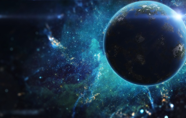 Picture colors, light, planet, sci fi